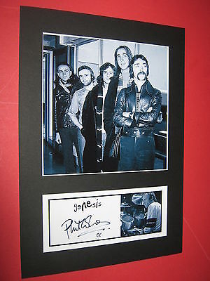 Genesis A4 Photo Mount Signed Pre-Printed Phil Collins Ticket Cd