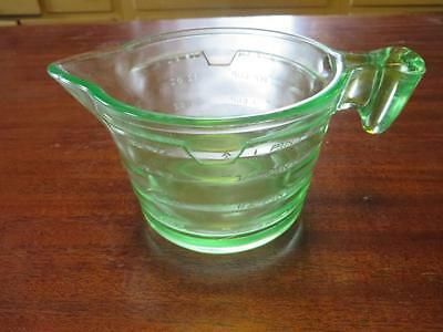 Green/Vaseline Depression Glass 2 Cup/1 Pint Measuring Cup/NO RESERVE!