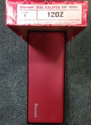 Starrett 120Z Dial Caliper Nice Condition With Box Free Shpping