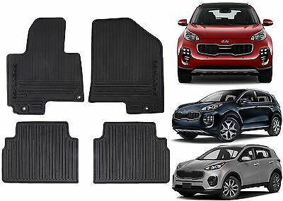 Genuine OEM Front & Rear All Weather Floor Mats For 2017+ Kia Sportage New USA