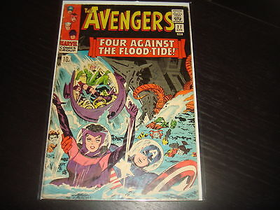 THE AVENGERS #27  Silver Age Lee Heck  Marvel Comics 1966  VG