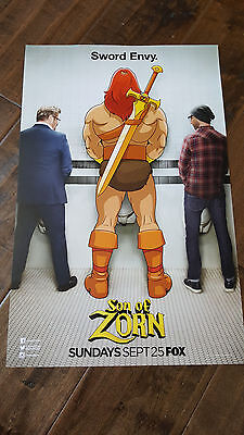 2016 Sdcc Comic Con Exclusive Fox Poster Son Of Zorn Sudeikis Hines Meadows