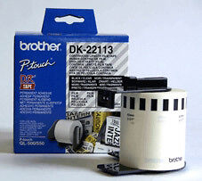 NEW! Brother DK22113 Clear Film Tape
