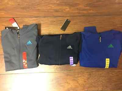 Adidas Boys Hoodie Jacket Front Zip Up size/color variation listing (BOYS)