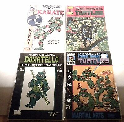 1986 Solson TMNT Teach Karate 1, Martial Arts Training 1,3,6 Lot Run F / VF