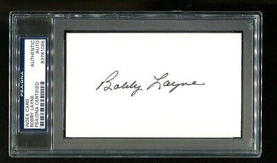 Bobby Layne Signed Index Card 3x5 Autographed Longhorns Lions PSA/DNA 83781066