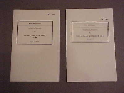 REPRINTS of Both TM 11-392 Manuals For SE-11/M-227 Signal Lamps (1943-Dated)
