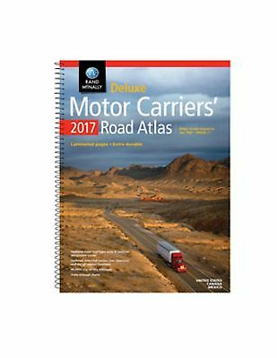 2017 Rand McNally Motor Carrier's Deluxe Road Atlas, Laminated ,Spiral Bound-NEW