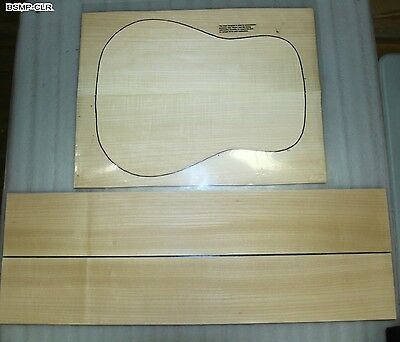 """back and side Maple 0.13"""" Guitar set Dreadnought (BSMP-CLR)"""
