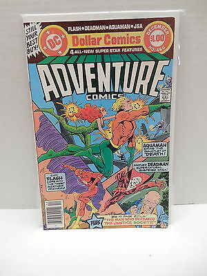 Adventure DC Comic Book #466 Aquaman Flash Deadman Justice Society America JSA