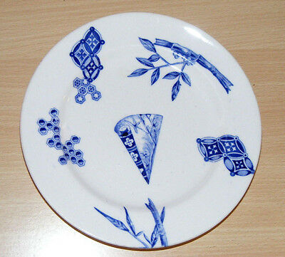"""Antique Royal Worcester C.1878 Japanese Inspired Aesthetic Movement Plate 6.75"""""""
