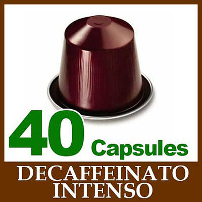 4x10 DECAFFEINATO INTENSO Capsules Nespresso Coffee *BRAND NEW ~ CHRISTMAS*