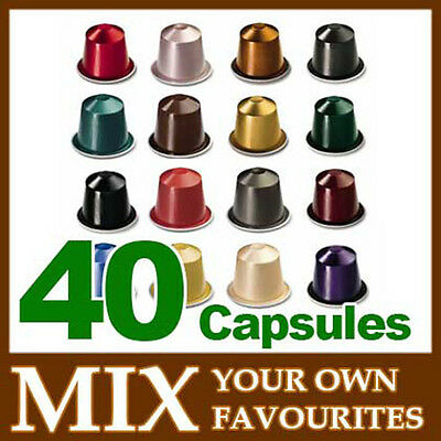4x10 pcs NESPRESSO mix & match yourself coffee Pods Capsules (4 sleeves)