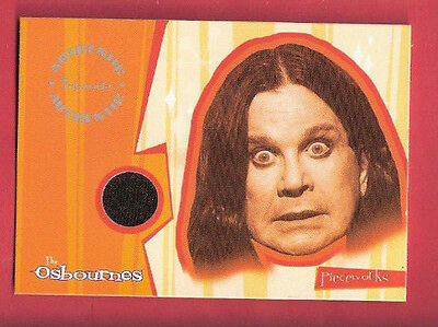 Ozzy Osbourne Worn Tshirt Swatch Relic Piece Card Singer Black Sabbath Piecework