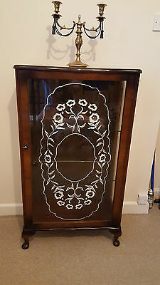 Late Victorian Antique Mahogany Display Cabinet Gothic Furniture Memento Mori