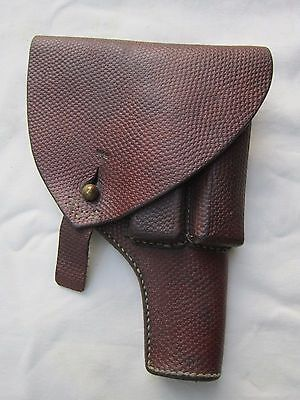 WW2 Swedish Model 1907 Browning brown Leather Holster