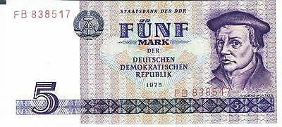 GERMANY BANKNOTE 5 P27a 1975 UNC