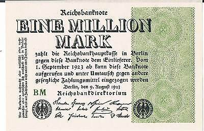 GERMANY BANKNOTE 1 MILLION P102a 1923 UNC