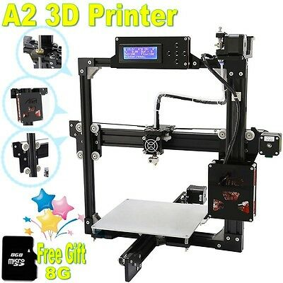 NEW A2 3D Printer Kit DIY & SD card Large Printing size Auto Leveling Full Metal