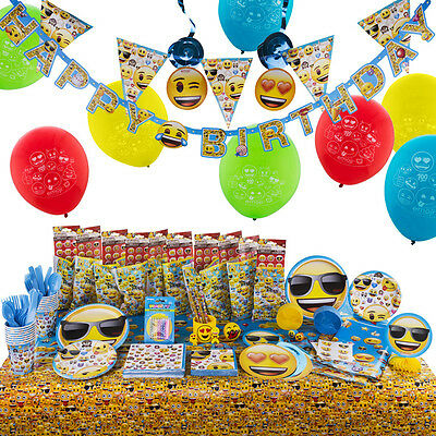 Emoji Big Birthday Bash Kit Party Kit includes 10 Filled Loot Favour Bags
