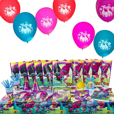 Trolls All-In-One Birthday Kit with 10 Filled Loot Favour Bags