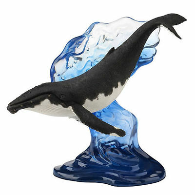 "10"" Humpback Whale Statue Figure Sculpture Nautical Home Decor Ocean Animal"