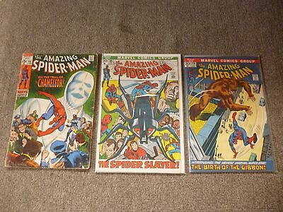 The Amazing Spider-Man comics #'s 80, 105, 110