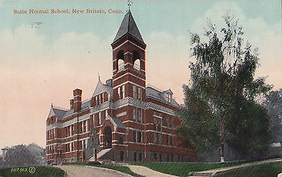 State Normal School NEW BRITAIN Harford Connecticut USA Charlton & Co. Postcard