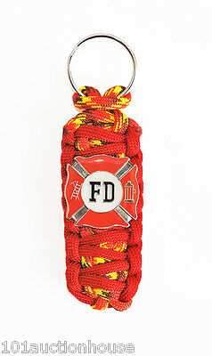 Firefighter/Fire Dept. Limited Edition Red/Flame *King Cobra* Paracord Keychain