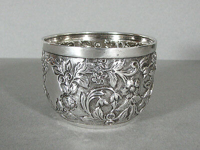 English Sterling Silver CUP Repousse Antique James Wakely & Frank Wheeler 1887