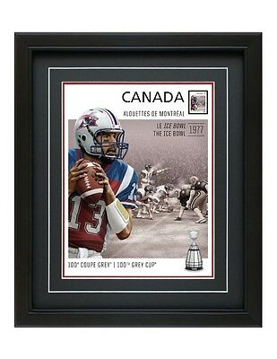 Cfl Montreal Alouettes Framed Print 100Th Gray Cup Anthony Calvillo Canada Stamp