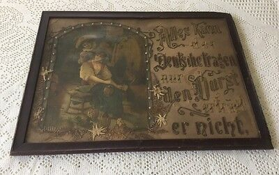 Antique 19th c. Victorian Embroidery Paper Punch Chromolithograph Print.   *1254