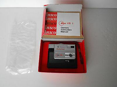 Vintage Ansco Readyflash VR1 Disc Camera w/box/strap/manual *MINT*  FreeShip