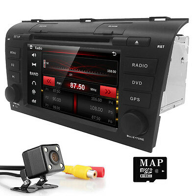 """Plug&Play 7""""in-Dash Car DVD GPS SAT Radio Stereo BT Touch AU-NZ MAP for Mazda 3"""