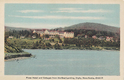 Pines Hotel & Cottages DIGBY Nova Scotia Canada 1930-40s PECO Postcard
