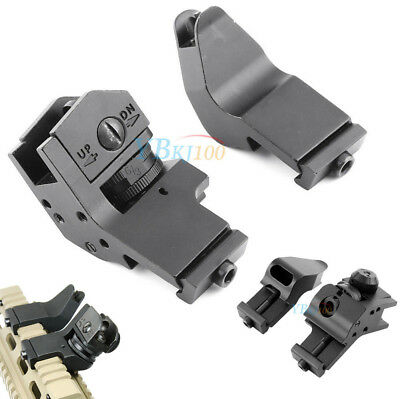 Tactical 45 Degree Off Set Fixed Back Up Iron Front Rear Rapid Transition Sights