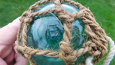 """Vintage Genuine Glass Float Norway Norwegian Netted Marked  """" F2 """""""