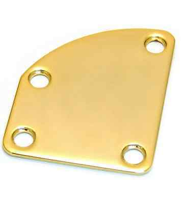 NECK PLATE DELUXE - 4 holes Gold - for guitar & bass