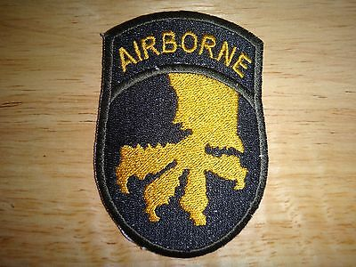 US 17th AIRBORNE Division Machine Embroidered Patch