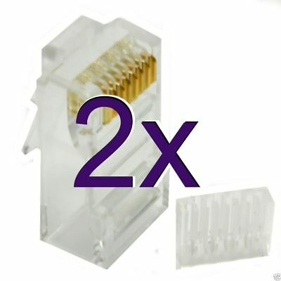 20 x Cat6 RJ45 LAN Crimps Ends Connectors Two Piece [003252]