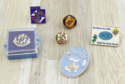 Vintage Knights of Columbus Lapel Pins Collection Bundle K of C