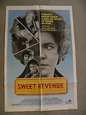 Sweet Revenge Stockard Channing Sam Waterson 1977 orginial movie poster 27X41