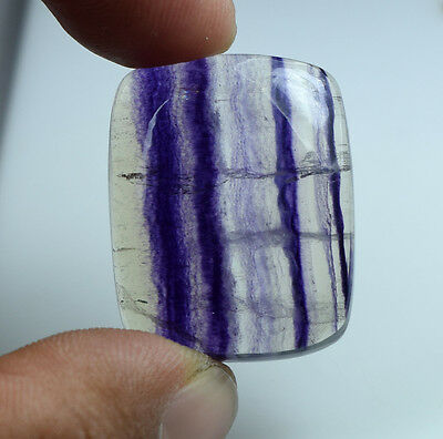 Beautiful ! 67.65 Cts. 100 % Natural  Flourite  Cushion Cab For Silver Pendant