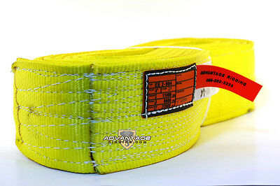 EE2-904 X20FT Nylon Lifting Sling Strap 4 Inch 2 Ply 20 Foot Feet USA MADE