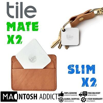 Tile Mate Combo Pack 2x Mate 2x Slim Multipurpose Bluetooth Tracker |Android iOS