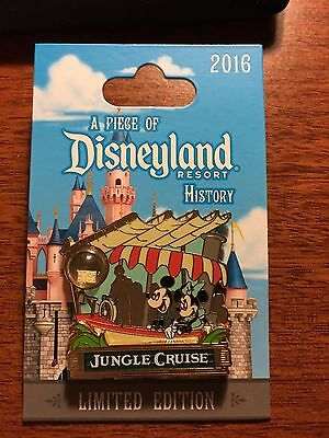JUNGLE CRUISE Disneyland Piece of History 2016 Pin Disney POH LE2000