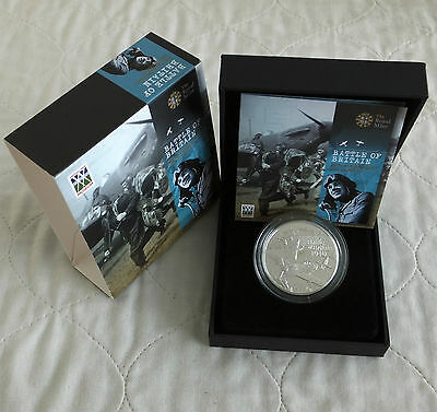 ALDERNEY 2010 BATTLE OF BRITAIN £5 SILVER PROOF CROWN - complete