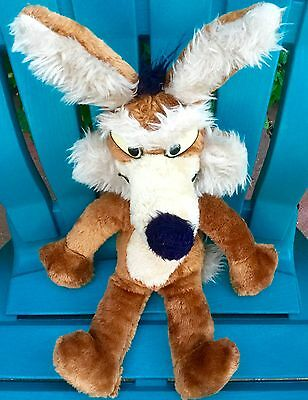 "Big! 20"" Vintage Wile E Wiley Looney Tunes Warner Bros Plush Stuffed Soft Toy"