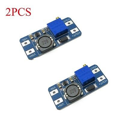 2PCS MT3608 2A Boost Step Up Power Supply Module DC-DC 2V-24V to 5-28V