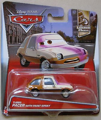 Disney PIXAR Cars TUBBS PACER with PAINT SPRAY London Chase series